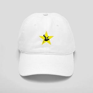 Pole Vaulter Silhouette Star Baseball Cap