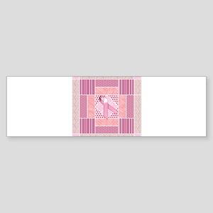 Pink Tribute to Breast Cancer Survi Bumper Sticker