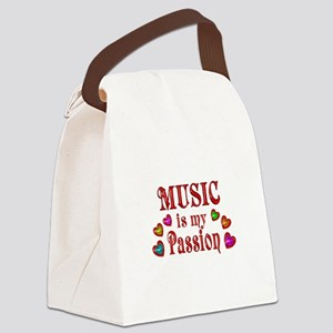 Music Passion Canvas Lunch Bag