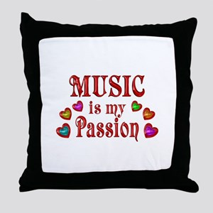 Music Passion Throw Pillow