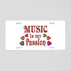 Music Passion Aluminum License Plate