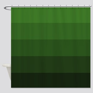 Color Bands Green Shower Curtain