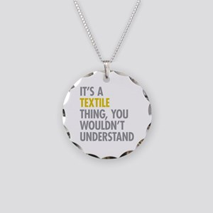 Its A Textile Thing Necklace Circle Charm
