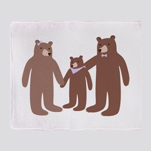 Bear Family Throw Blanket