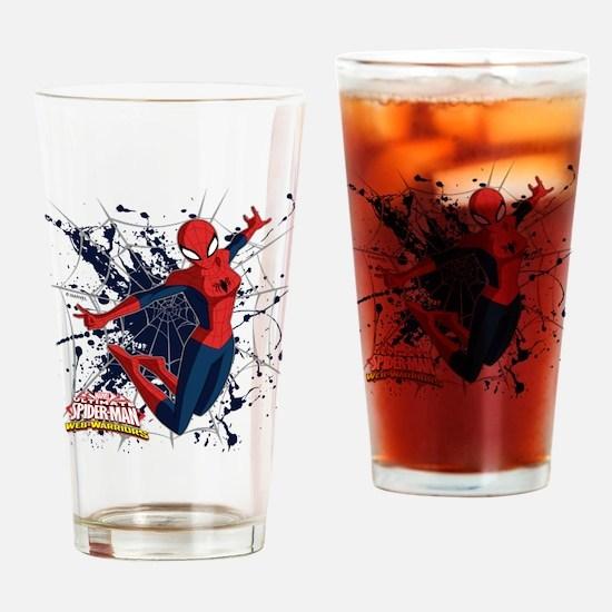 Spider-Girl Web Drinking Glass