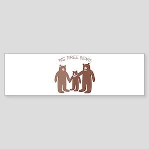 The Three Bears Bumper Sticker