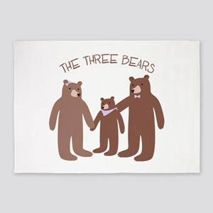 The Three Bears 5'x7'Area Rug