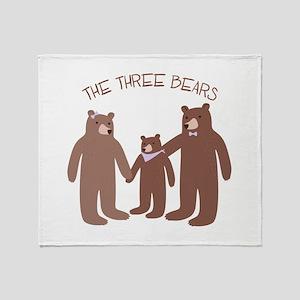 The Three Bears Throw Blanket