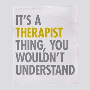 Its A Therapist Thing Throw Blanket