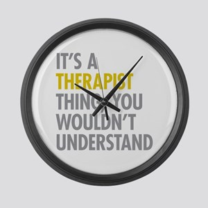 Its A Therapist Thing Large Wall Clock