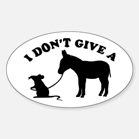 I don't give a rat's *ss Decal