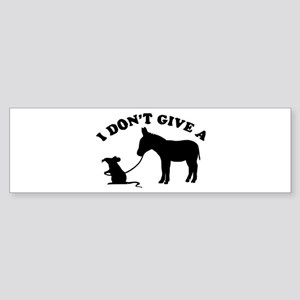 I don't give a rat's *ss Bumper Sticker