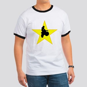 Motorcycle Racing Silhouette Star T-Shirt