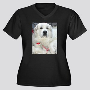 great pyrenees with teddy bear Plus Size T-Shirt
