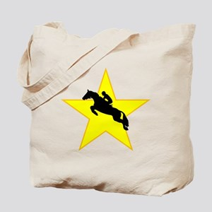 Equestrian Horse Silhouette Star Tote Bag