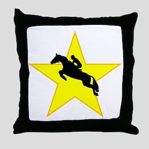 Equestrian Horse Silhouette Star Throw Pillow