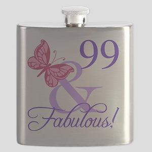 Fabulous 99th Birthday Flask