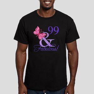 Fabulous 99th Birthday Men's Fitted T-Shirt (dark)
