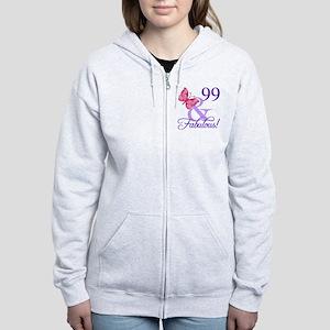Fabulous 99th Birthday Women's Zip Hoodie