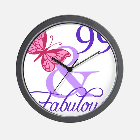 Fabulous 99th Birthday Wall Clock