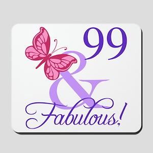 Fabulous 99th Birthday Mousepad