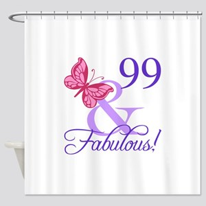 Fabulous 99th Birthday Shower Curtain
