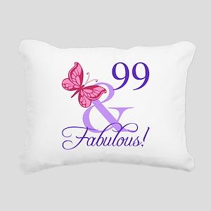 Fabulous 99th Birthday Rectangular Canvas Pillow