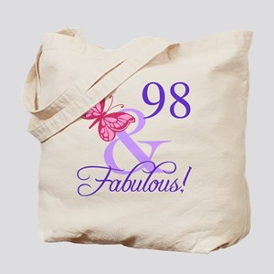 Fabulous 98th Birthday Tote Bag