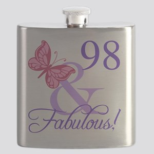 Fabulous 98th Birthday Flask