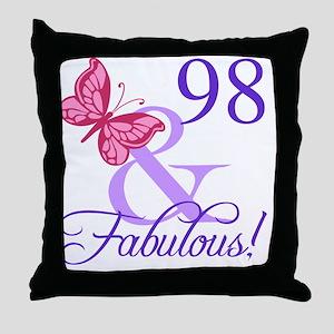 Fabulous 98th Birthday Throw Pillow