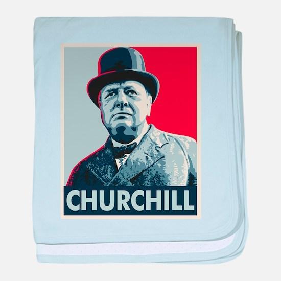 Winston Churchill baby blanket