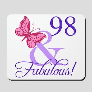 Fabulous 98th Birthday Mousepad