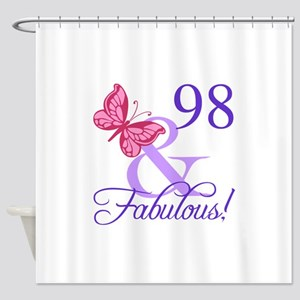 Fabulous 98th Birthday Shower Curtain