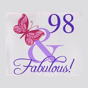 Fabulous 98th Birthday Throw Blanket