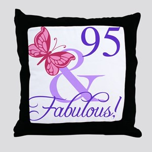 Fabulous 95th Birthday Throw Pillow