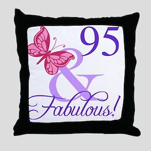 Fabulous 95th Birthday Throw Pillow