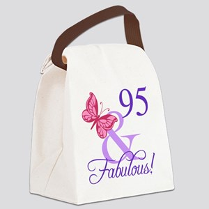 Fabulous 95th Birthday Canvas Lunch Bag