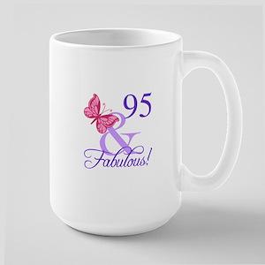 Fabulous 95th Birthday Large Mug