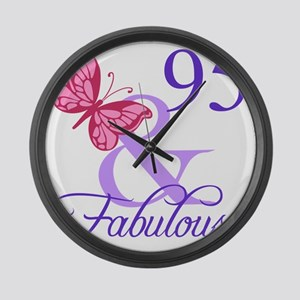 Fabulous 95th Birthday Large Wall Clock