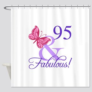 Fabulous 95th Birthday Shower Curtain