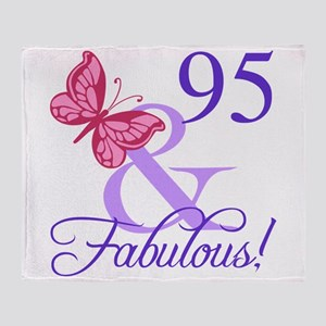 Fabulous 95th Birthday Throw Blanket