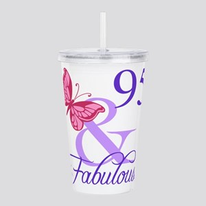 Fabulous 95th Birthday Acrylic Double-wall Tumbler