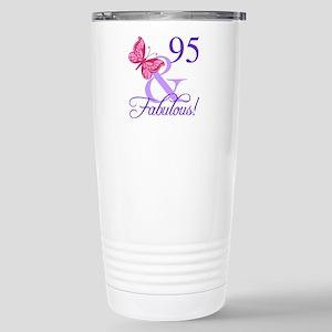 Fabulous 95th Birthday Stainless Steel Travel Mug