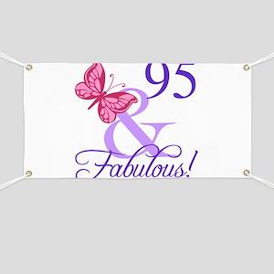 Fabulous 95th Birthday Banner
