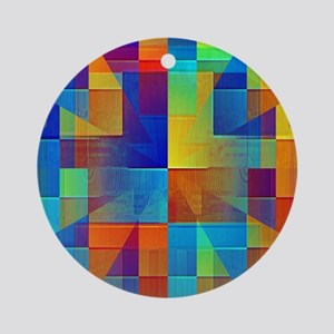 Kaleidoscope of Color Ornament (Round)