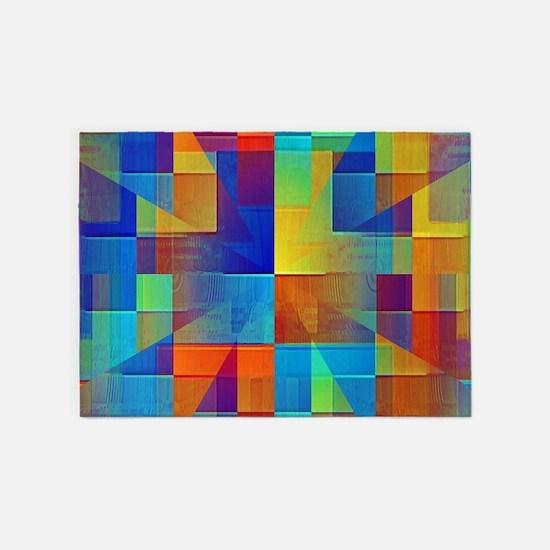 Kaleidoscope Of Color 5 X7 Area Rug