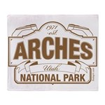 Arches National Park Throw Blanket