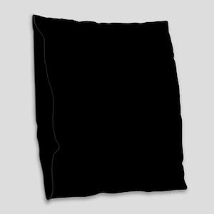 Black Burlap Throw Pillow