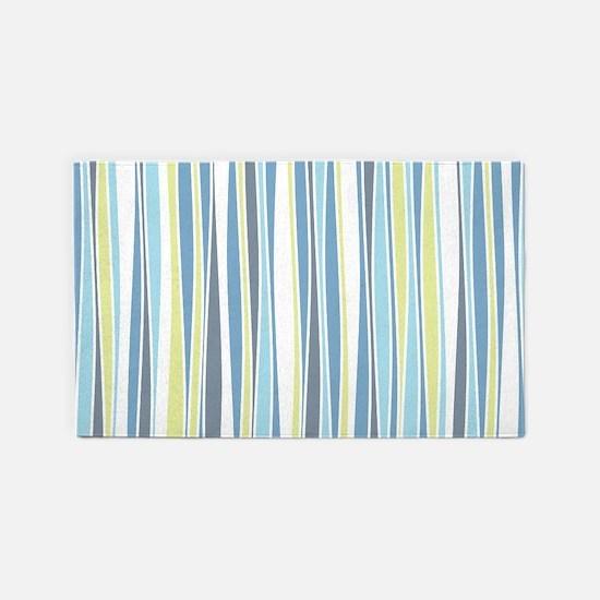 Wavy Stripes 3'x5' Area Rug