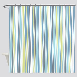 Wavy Stripes Shower Curtain